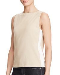 Lauren by Ralph Lauren | Multicolor Cotton Jersey Tank Top | Lyst