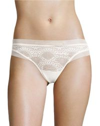 Calvin Klein   White Lace Pull-on Thong   Lyst