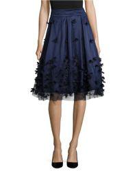 Eliza J | Blue Embellished A-line Skirt | Lyst