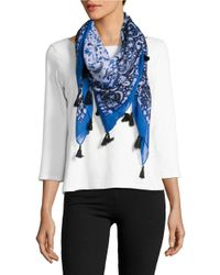 Lord & Taylor | Blue Floral Printed Scarf | Lyst