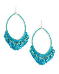 Panacea | Blue Beaded Drop Earrings | Lyst