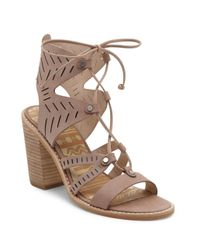 Dolce Vita | Brown Luci Leather Ghillie Lace Sandals | Lyst