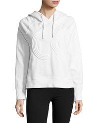 Calvin Klein | White Textured Logo Hoodie | Lyst