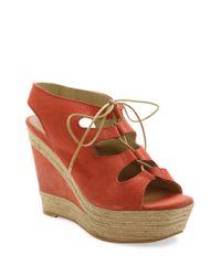 Andre Assous | Multicolor Cassie Espadrille Wedge Suede Sandals | Lyst