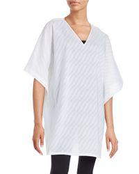 N Natori | White Textured Cotton Tunic | Lyst
