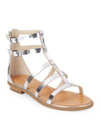 Seychelles | Metallic Peachy Vachetta Leather Caged Sandals | Lyst