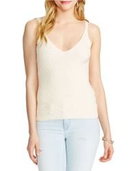 Jessica Simpson | Blue Roselle Ribbed Knit Crop Top | Lyst