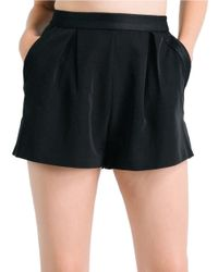 Kendall + Kylie | Black Mesh High Rise Shorts | Lyst