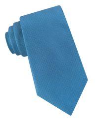 Calvin Klein | Blue Natte Solid Silk Tie for Men | Lyst