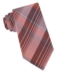 Calvin Klein | Multicolor Schoolboy Chalk Plaid Silk Tie for Men | Lyst