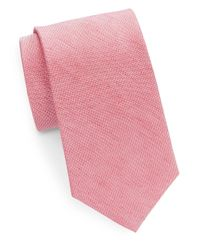 Cole Haan | Pink Classic Silk-linen Tie for Men | Lyst