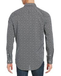 Perry Ellis - Black Textured Sportshirt for Men - Lyst