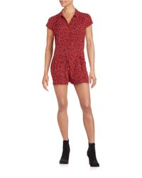 Free People | Red Floral Romper | Lyst
