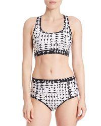 Calvin Klein - Black Geo Tie-dyed Bikini Top - Lyst