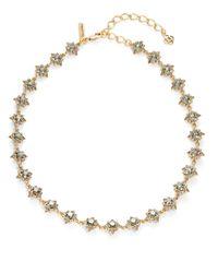 Oscar de la Renta | Metallic Delicate Star Crystal Necklace | Lyst
