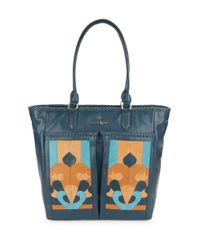 Nanette Lepore   Multicolor Echo Suede And Leather Tote   Lyst