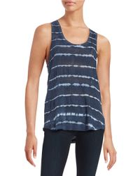 Splendid | Blue Striped Knit Tank Top | Lyst