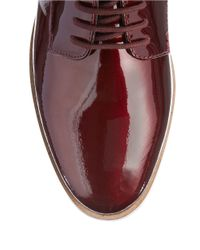 Dune   Brown Flossy Round Toe Lace-up Shoes for Men   Lyst