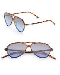 Marc Jacobs - Green 56mm Aviator Sunglasses - Lyst