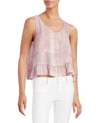 Lord & Taylor | Pink Tie-dye Flared Tank Top | Lyst