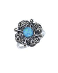 Lord & Taylor | Blue Opal And Sterling Silver Ring | Lyst