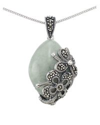 Lord & Taylor | Metallic Jade Teardrop Pendant Necklace | Lyst