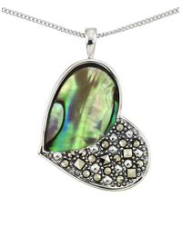 Lord & Taylor | Green Abalone Heart Pendant Necklace | Lyst