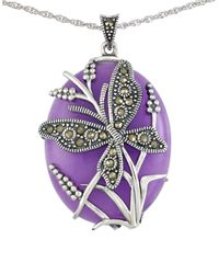 Lord & Taylor | Purple Lavender Quartz And Sterling Silver Pendant Necklace | Lyst