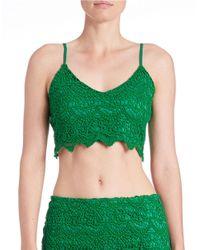 Lord & Taylor | Green Crochet Bralette | Lyst