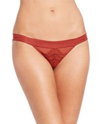 Free People | Red Mesh Briefs | Lyst