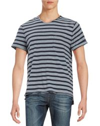 Calvin Klein Jeans | Blue Striped V-neck Short-sleeve Tee for Men | Lyst
