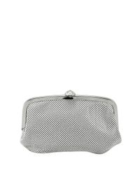 La Regale | Metallic Mesh Pouch Bag With Snap Closure | Lyst