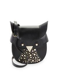 Luana Italy Black Minerva Owl Bag