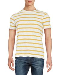 Brooks Brothers Red Fleece | Yellow Striped Tee for Men | Lyst