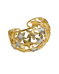 Kenneth Jay Lane | Metallic Star Cuff Bracelet | Lyst