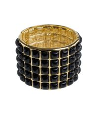 Kenneth Jay Lane | Metallic Resin Cabochon Wide Bracelet | Lyst