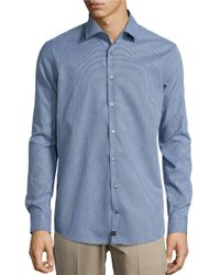 Strellson | Blue Slim Fit Patterned Sportshirt for Men | Lyst