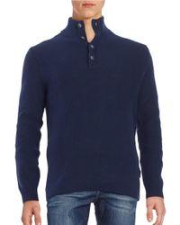 Strellson | Blue Cyrus Mockneck Sweater for Men | Lyst