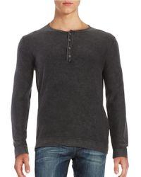 Strellson   Black Lennon Cotton Henley Shirt for Men   Lyst
