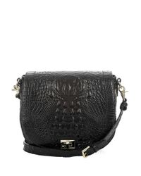 Brahmin | Black Melbourne Collection Alena Croco-embossed Cross-body Bag | Lyst