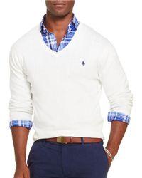 Polo Ralph Lauren | White Slim-fit Pima V-neck Sweater for Men | Lyst