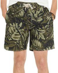 Polo Ralph Lauren | Green Palm Island Printed Swim Trunks for Men | Lyst