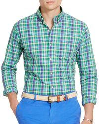 Polo Ralph Lauren | Green Plaid Cotton Poplin Shirt for Men | Lyst