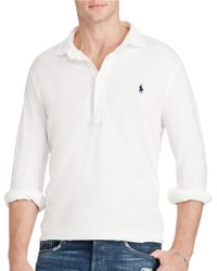 Polo Ralph Lauren | White Custom-fit Featherweight Polo Shirt for Men | Lyst