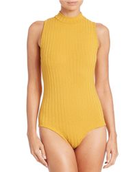 Lord & Taylor Blue Ribbed Bodysuit