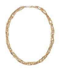 Lord & Taylor | Metallic 14k Yellow Gold Quadruple Interlock Necklace | Lyst