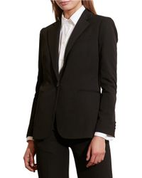 Lauren by Ralph Lauren   Black Single-button Twill Jacket   Lyst