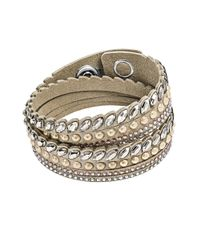 Swarovski | Metallic Leather Bracelet | Lyst
