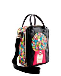 Betsey Johnson Brown Gumball Lunch Tote