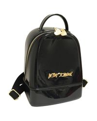 Betsey Johnson | Black Dont Be Jelly Mini Backpack | Lyst